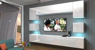 home direct nowara n1 modernes wohnzimmer wohnwaende wohnschraenke schrankwand weiss mat base weiss hg front led rgb 16 farben 310x165 - Home Direct NOWARA N1, Modernes Wohnzimmer, Wohnwände, Wohnschränke, Schrankwand (Weiß MAT Base/Weiß HG Front, LED RGB 16 Farben)